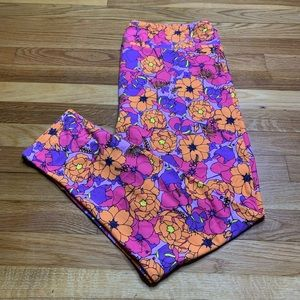 LuLaRoe TC2 Floral Leggings NWOT